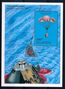 [64395] Uganda 1989 Space Travel Weltraum Apollo 11 Souvenir Sheet MNH