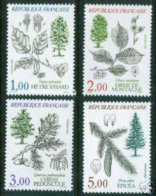 FRANCE Sc 1984-7, Yv 2384-7 MNH** Trees