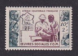 French Equatorial Africa   #B39  MNH 1950 tropical medicine  10 + 2 fr