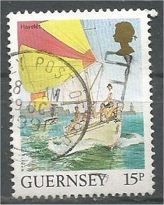 GUERNSEY, 1985, used 15p  Havelet, Scott 296