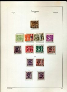 BELGIUM 1932/43 MH MNH Used on Pages(Apprx 150 Items)NS 777