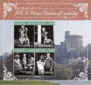 Union Island Gren St Vincent Royalty Stamps 2015 MNH Princess Charlotte 4v M/S