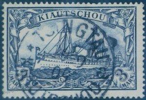 Germany 1901 China TSINGTAU Deutsche Kiautschou 3 Mark Mi16 USED Expertize 95811