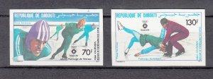 DJIBOUTI SC# C190-C191 WINTER OLYMPICS 1984 - MNH -  IMPERF