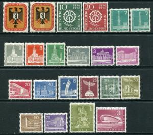GR Lot 10581 Allied Occ Berlin 1956 Michel 135 - 154 Deutsche Bundespost