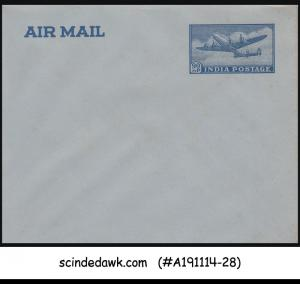 INDIA - 90np AIR MAIL ENVELOPE - BLUE - MINT