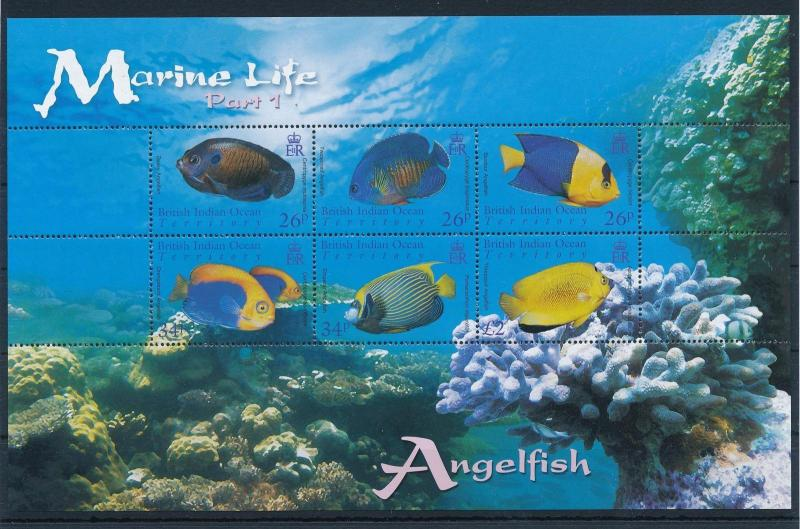 [30370] British Indian Ocean Territory 2006 Marine Life Fish MNH Sheet