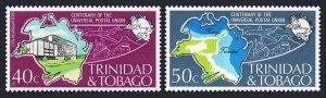 Trinidad & Tobago 243-244,244a sheet,MNH,UPU-100,1974.Map,Mail Transport:Plane,