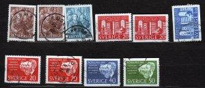 J23042 JLstamps various 1961 sweden sets used #594-up designs