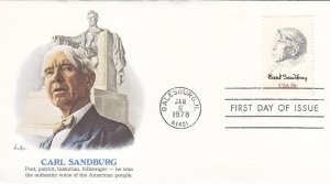 1978, Honoring Carl Sandburg, Fleetwood, FDC (E10919)