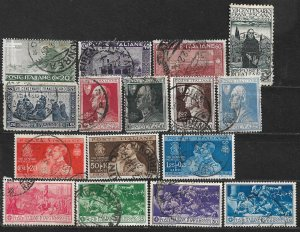 COLLECTION LOT OF 16 ITALY STAMPS 1926+ CV+ $42