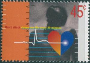 Australia 1998 SG1769 45c Heart Disease Awareness MNH