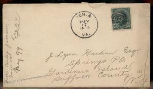 Virginia 1899 Ionia VA Cancel DPO Helbock R5 Cover 10c Bureau 92341