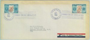 84283  - GUATEMALA  - Postal History -  FDC COVER  1948  Maps BIDS