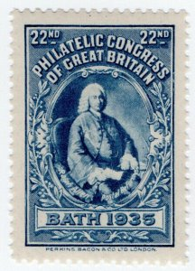(I.B) Cinderella : 22nd Philatelic Congress (Bath 1935) Ralph Allen