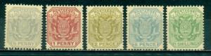 Transvaal #148-152  Mint  Scott $27.05