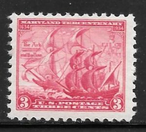 USA 736: 3c The Ark and The Dove, MNH, F-VF