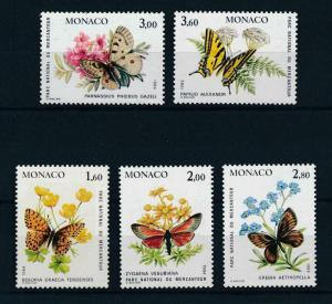 [98660] Monaco 1984 Insects Butterflies Flora Flowers  MNH
