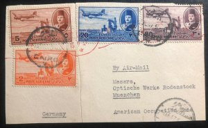 1947 Cairo Egypt Piece Cover To Munich Germany SC# C39