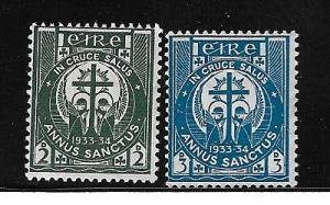 Ireland - 1933 Holy Year mint #88-89