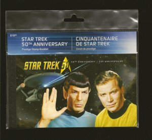 Canada Star Trek 50th Anniversary 2016 Prestige Stamp Booklet Sealed