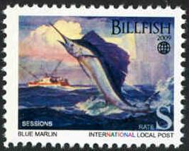 Blue Marlin: Billfish - Intl. Local Post - MNH - Cinderella