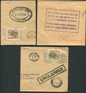 JAMAICA (24891): DELAYED/UNCLAIMED/TRD cancels/part covers