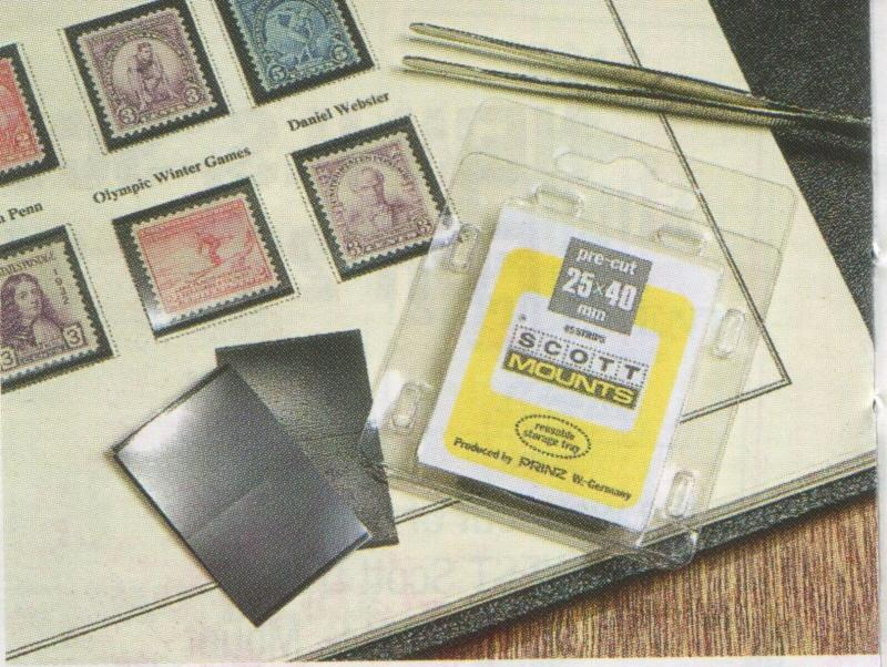 Scott/Prinz Souvenir Sheets & Small Panes Stamp Mount Size: 290x28 #1044 Black