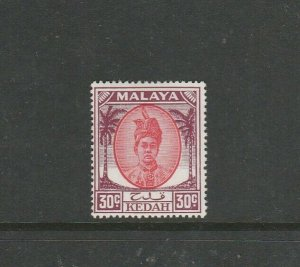 Malaya Kedah 1950/55 30c MM SG 85a