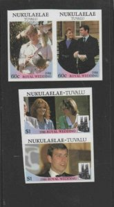 TUVALU-NUKULAELAE #61-62 1986 WEDDING OF PRINCE ANDREW IMP. MINT VF NH O.G