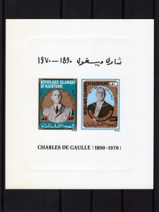 Mauritania 1980 Charles de Gaulle Deluxe s/s mnh.vf