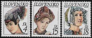 Slovakia #324-6 MNH Set - Traditional Bonnets