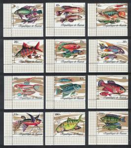Guinea Fish 12v Bottom Left Corners SG#729-740 MI#571-582A SC#570-581 CV£10+