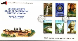 Zimbabwe, Worldwide First Day Cover, Waterfalls