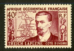 FRENCH WEST AFRICA 58 MH SCV $2.40 BIN $1.10 MAP, PERSON