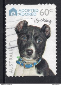 ADOPTED ADORED - BUCKLEY postally used 60c BOOKLET SELF-ADHESIVE stamp from AUST