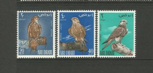 ABU DHABI 1965 Falconry set complete unmounted mint SG12-SG14 Sc12-Sc14 CV £60