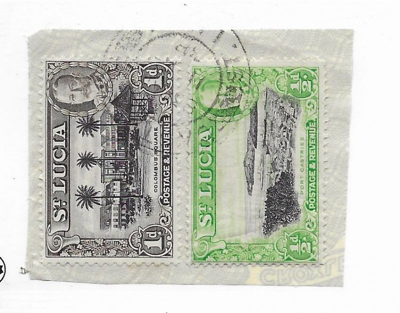 St. Lucia #95-96a Used - Stamp - CAT VALUE $3.55