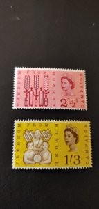 Great Britain #390P-391P Phosphor Issue MNH