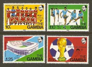 Gambia #443-6 NH 1982 World Cup Soccer