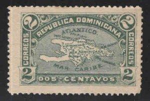 Dominican Republic Scott 114 Map stamp Mint No Gum
