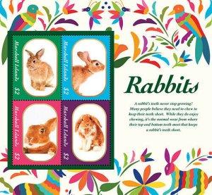 2020/12 - MARSHALL ISLANDS - RABBITS     4V  complet set    MNH ** T