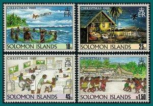 Solomon Islands 1989 Christmas, MNH #653-656,SG662-SG665