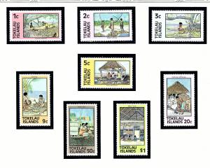Tokelau Is 49-56 MNH 1975 Daily Activities