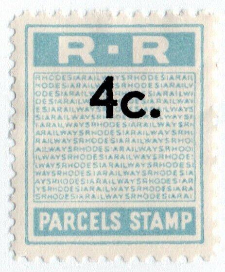 (I.B) Rhodesia Railways : Parcels Stamp 4c (unissued)