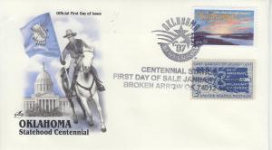 2007 Oklahoma Centennial Broken Arrow OK FDOI Artcraft 12