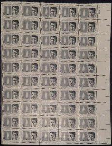 MALACK 1246 5c John F. Kennedy Memorial, F-VF NH or ..MORE.. sheet1246