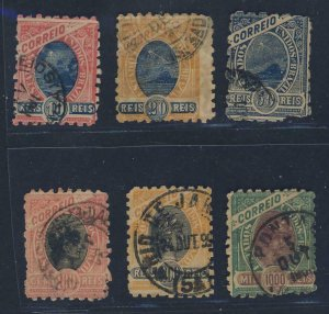 22052 BRAZIL USED LOT 'MADRUGADA' STAMPS w/ PERF 7 & 9 - CAT. VALUE US$ 244,00