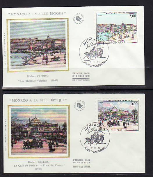 Monaco 1385-1389 Paintings 1983  S/2 U/A FDC