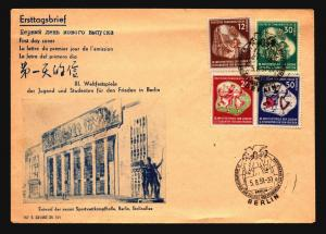 Germany 1951 Series FDC / Light Top Crease - Z14911